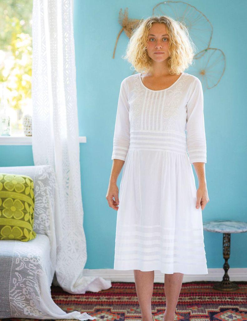 Australia Isobel 3/4 Slv Dress in White S