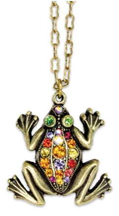 USA Multicolored Frog Necklace