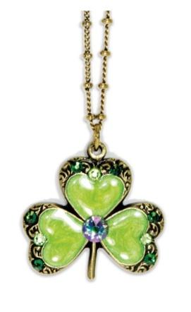 USA Green Clover Necklace