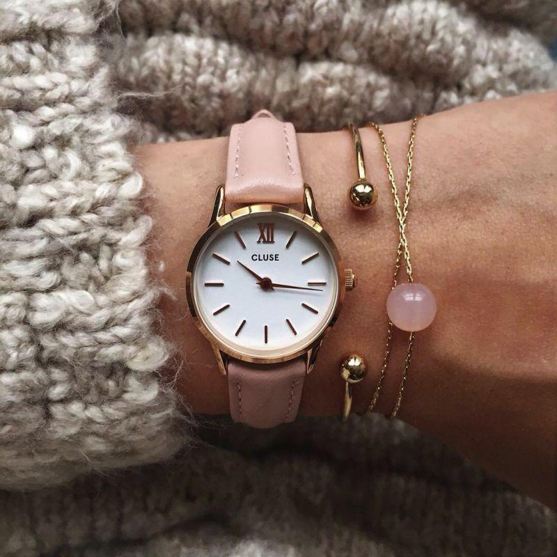 Australia CLUSE La Vedette Rose Gold White/Pink