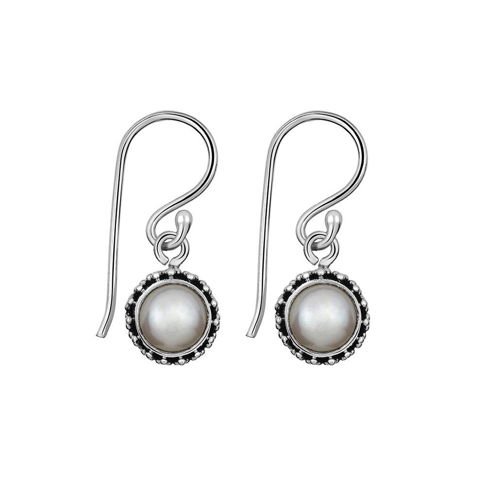 Australia Sterling Silver Pearl Drop Earrings