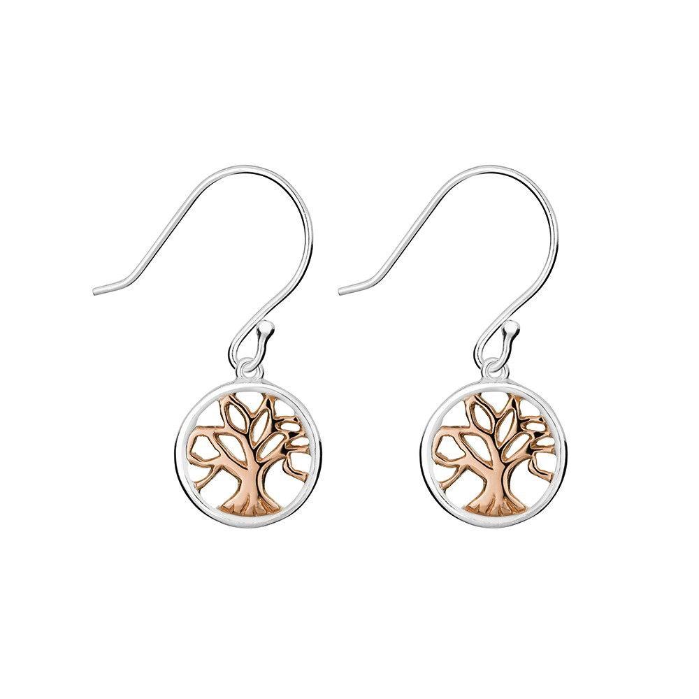 Australia Tree of Life Drop Earrings Rose Gold