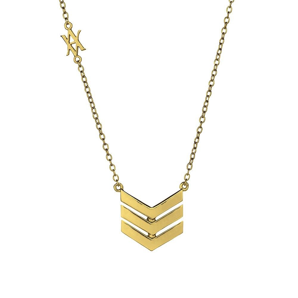 Australia Gold Three V Point Necklace