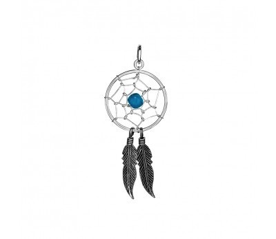 Australia Sterling Silver Dream Catcher Pendant with Turquoise stone