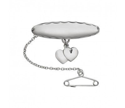 Australia Sterling Silver Brooch with Hearts