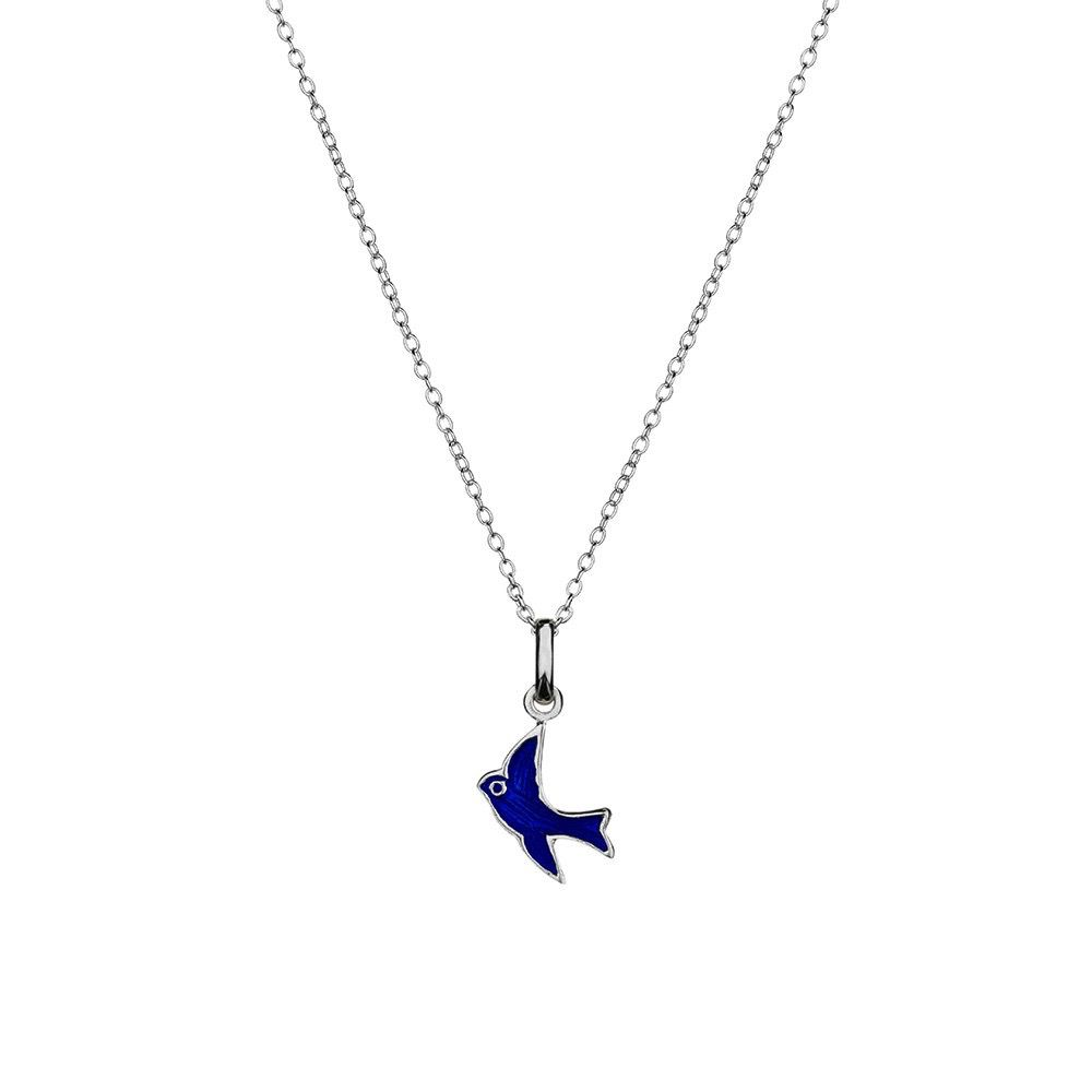 Australia Sterling Silver Blue Bird Necklace