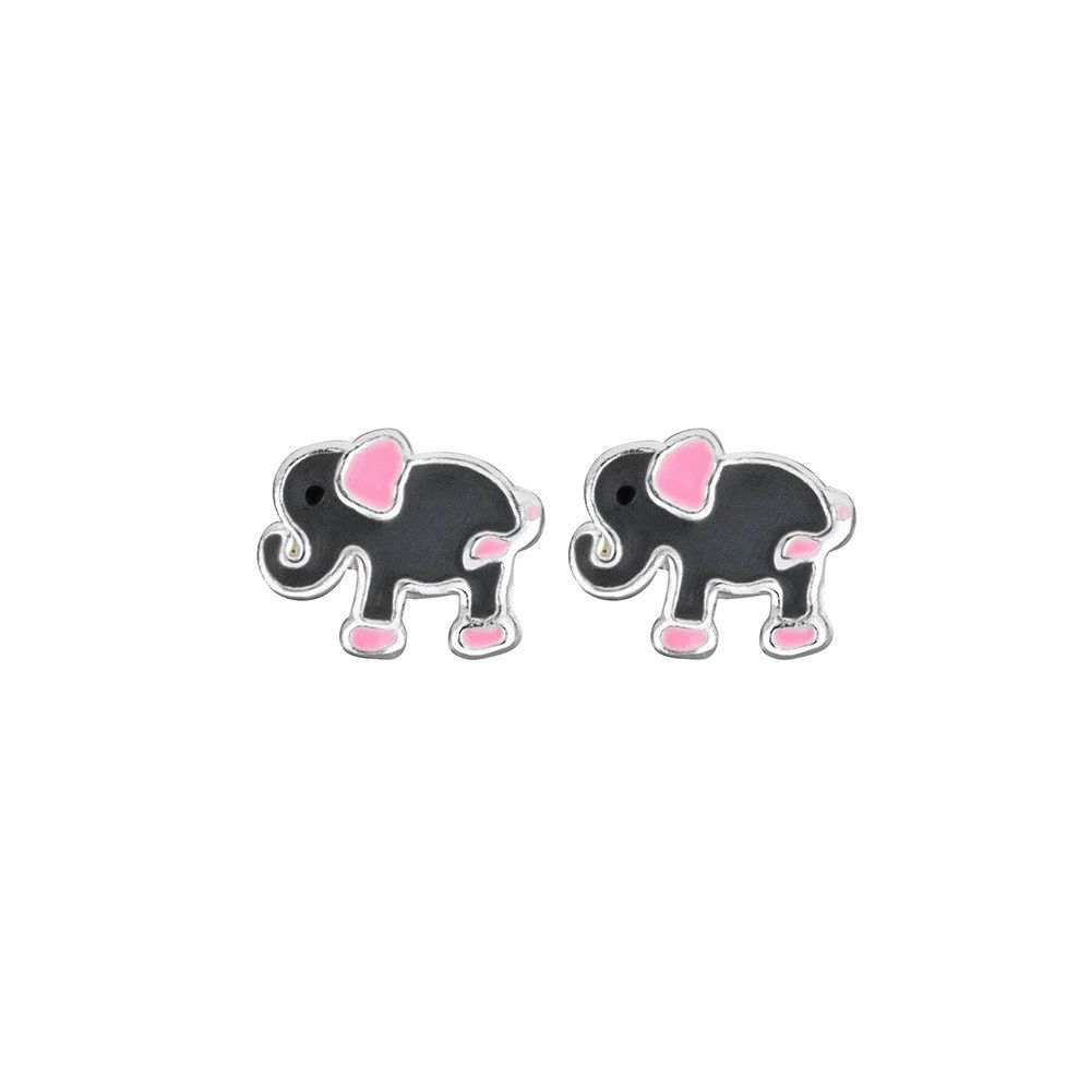 Australia Sterling Silver Elephant Stud Earrings