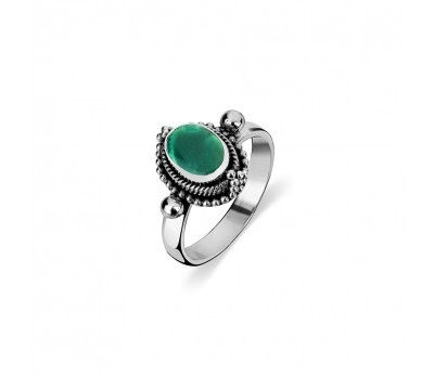 Australia Sterling Silver Turquoise Tribal Ring