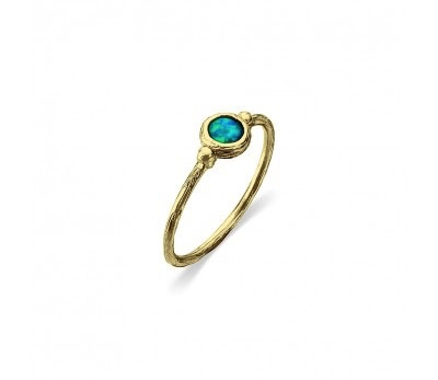 Australia Gold ring with Opalite stone