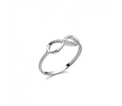 Australia Sterling Silver Stone set Infinity ring
