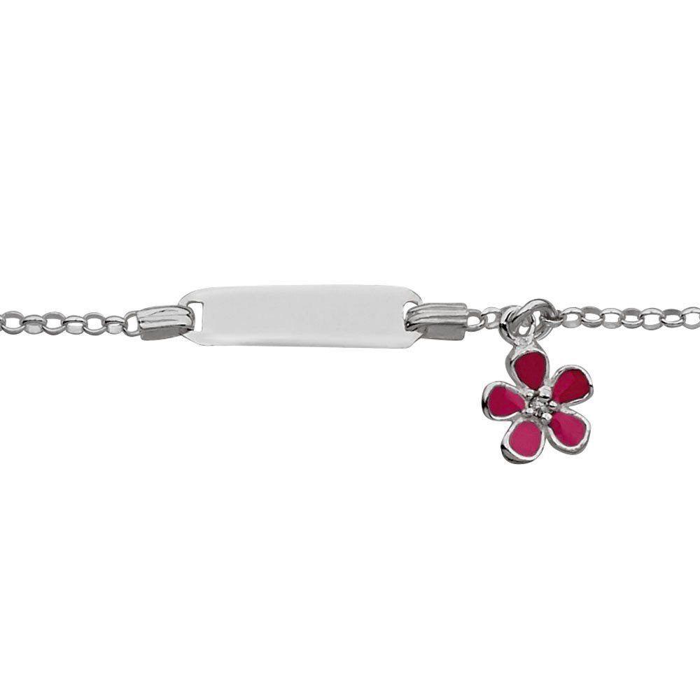 Australia Sterling Silver Children's ID Bracelet with Flower