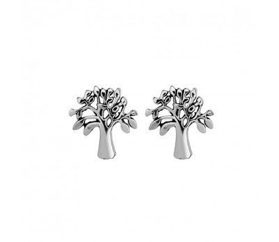 Australia Sterling Silver Tree of Life stud earrings