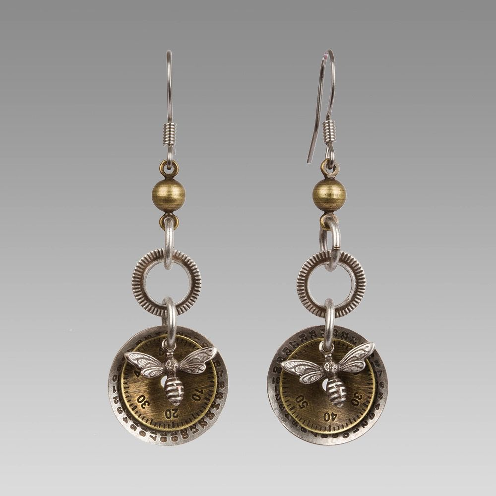 USA BEE EARRINGS LONG
