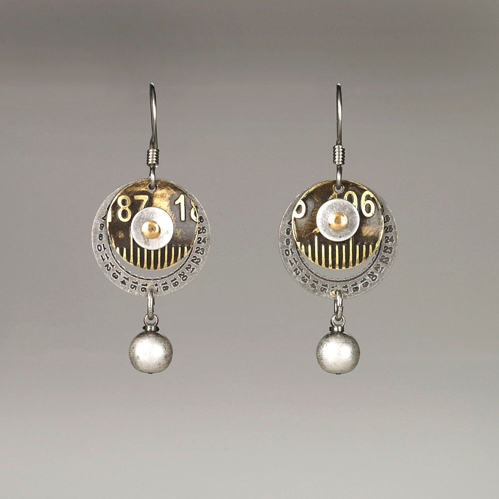 USA Date Wheel & Ruler Earrings