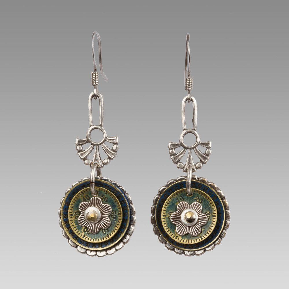 USA Flower Drop Earrings