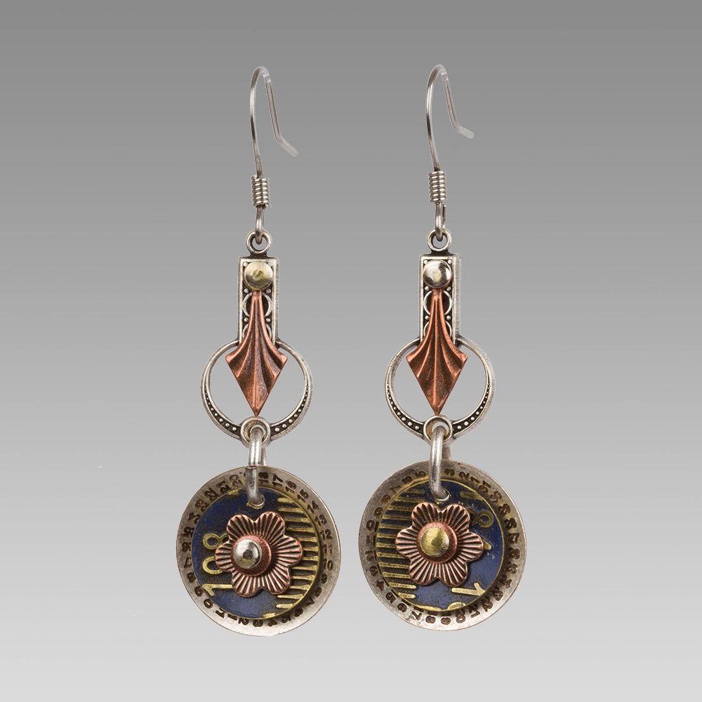 USA Rose Gold Flower Drop Earrings