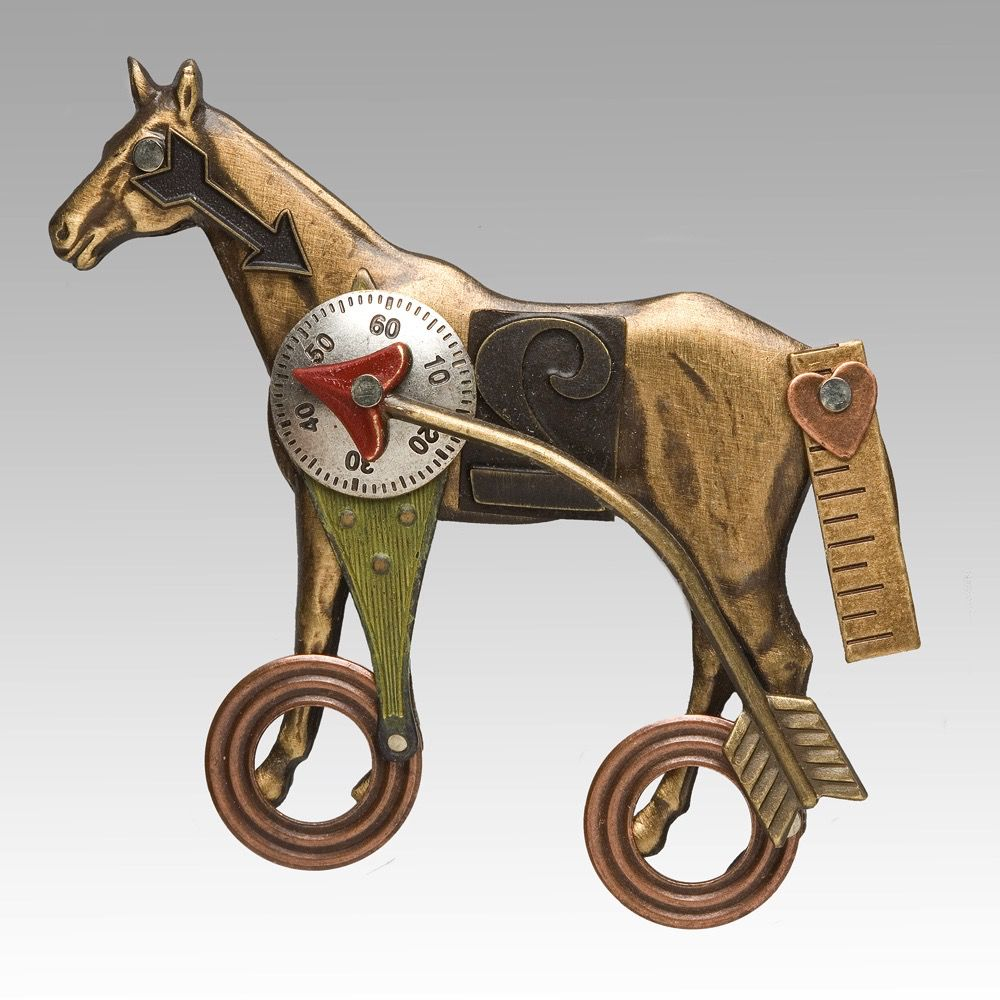 USA Horse Pin on Wheels