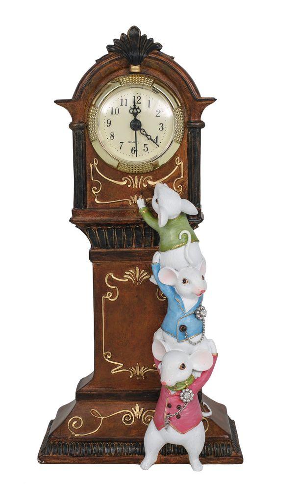 Australia Quirky Mice with Clock 33.5cmH