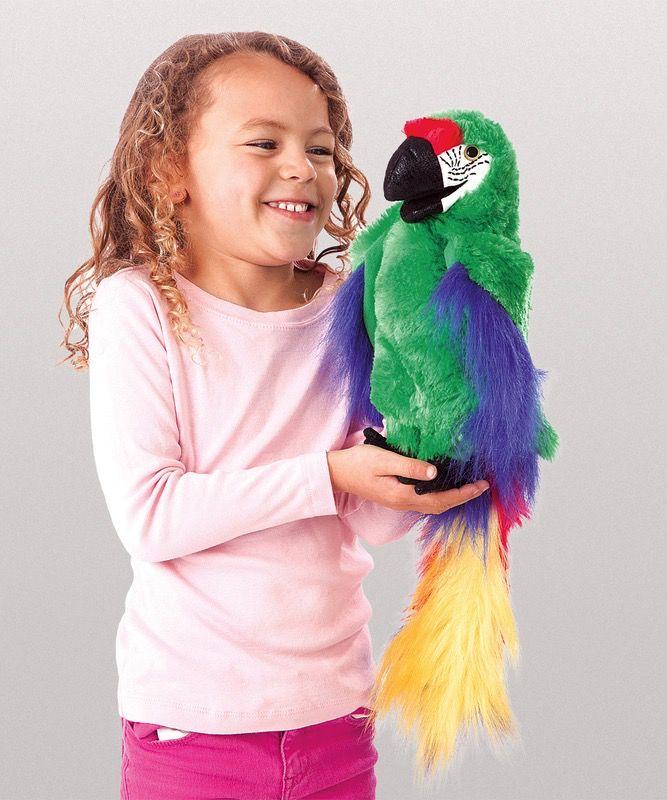 Australia Bird Puppet, Macaw Green