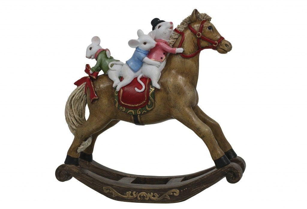 Australia Quirky Mice on Rocking Horse