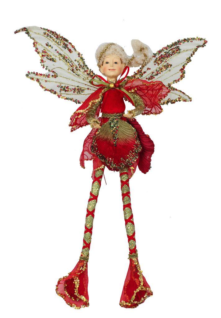 Australia Iris Fairy 45cm Red/Sage