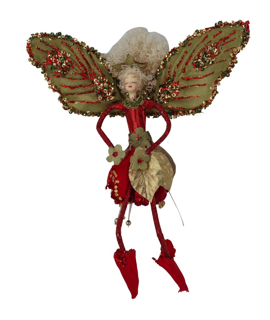 Australia Red/sage Fairy Hanging 19cm