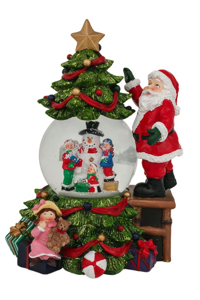 Australia Tree & Santa Waterball 23cmH