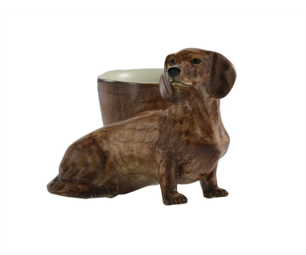 Europe Dachshund with egg cup red