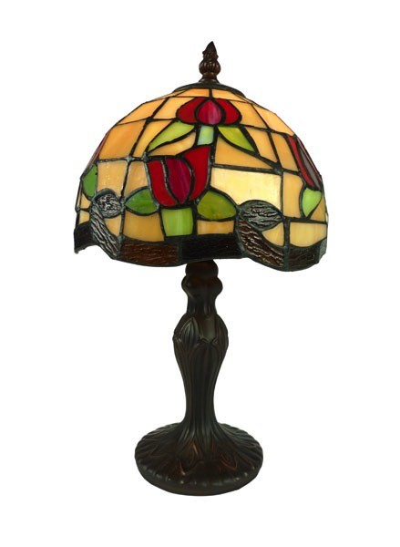 Australia 8IN RED ROSE LEADLIGHT LAMP