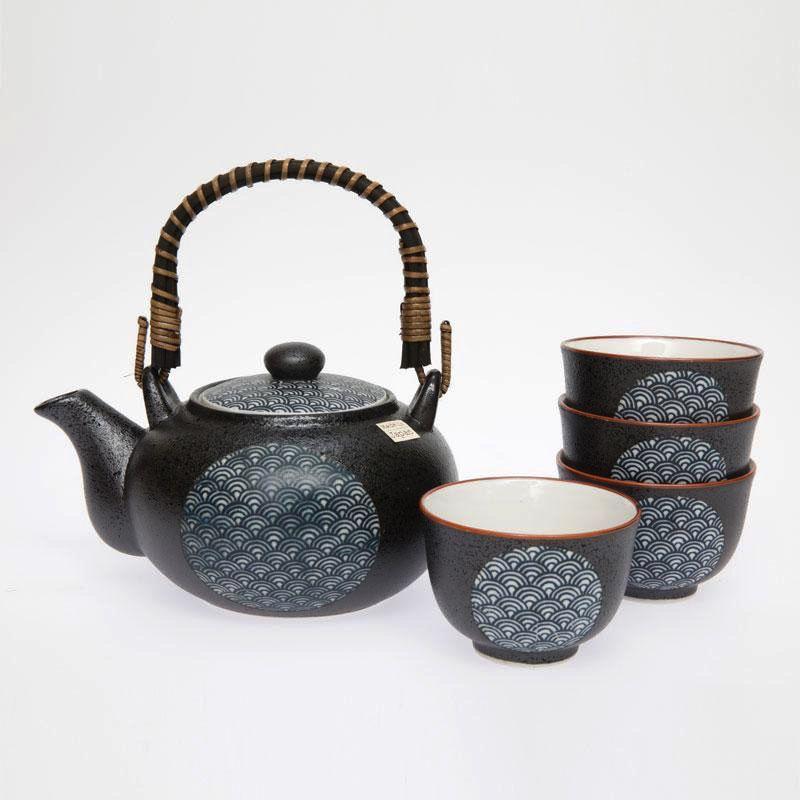 Australia Blue Wave Tea Set 4 Cups