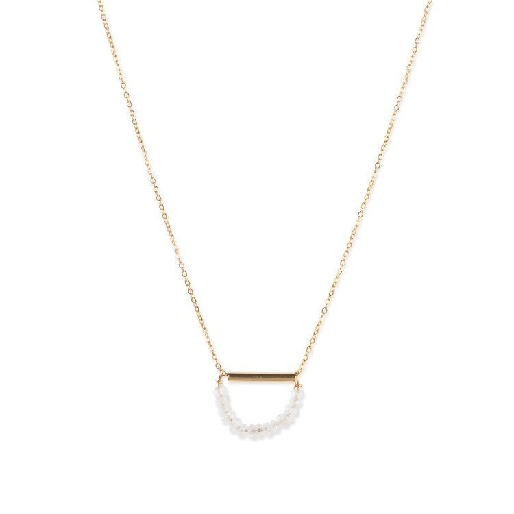 USA Soba Moon Necklace - Gold