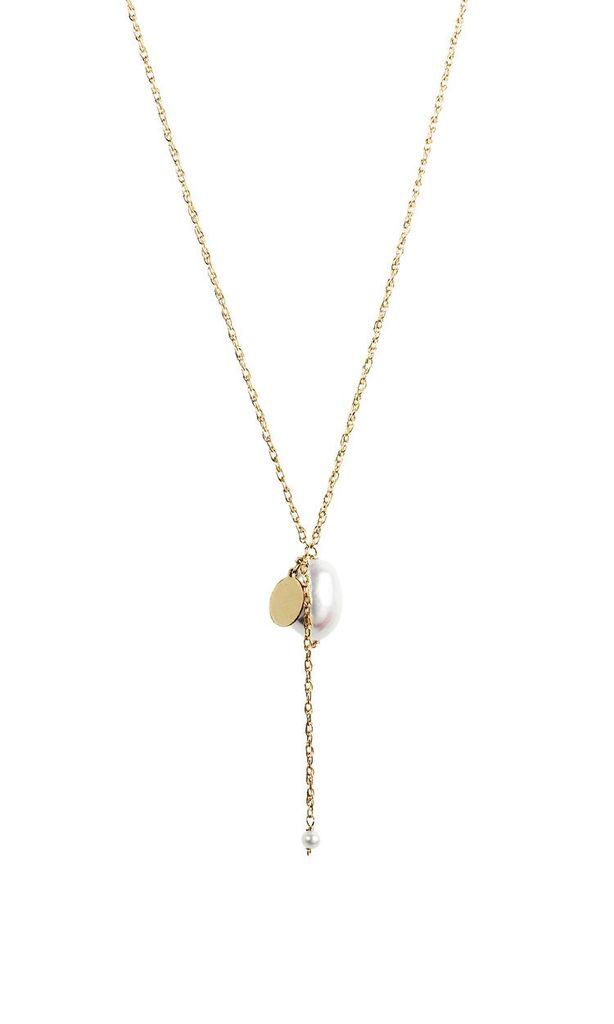 USA Long Drop Trincitas Necklace - Silver