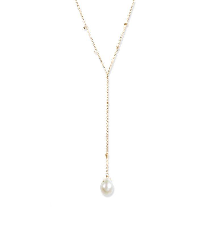 USA Lacuadra Pearl Necklace - Gold