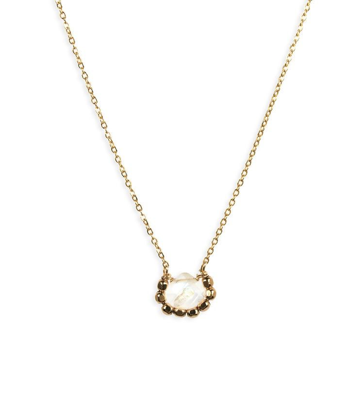 USA Iris Moon Necklace - Gold