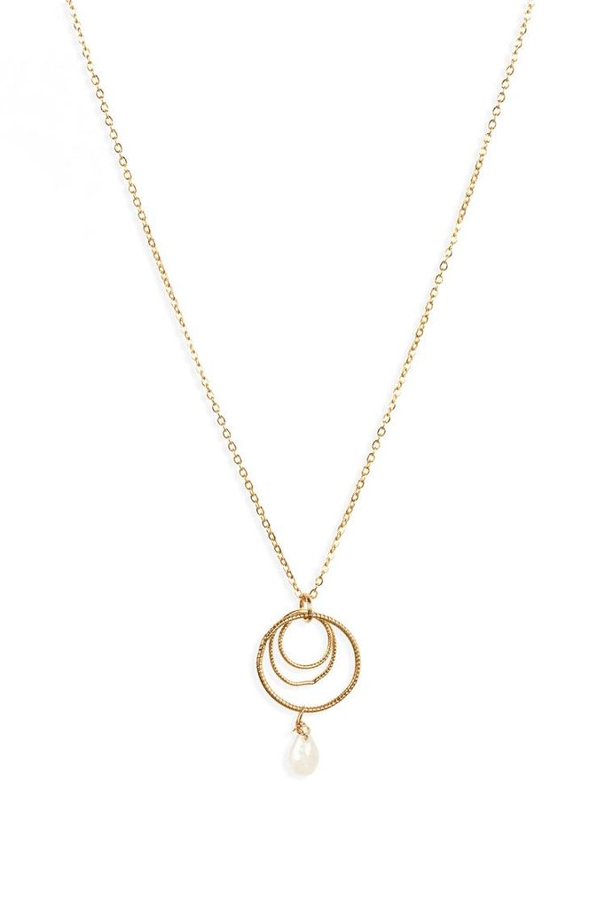 USA Inna Moon Necklace - Gold