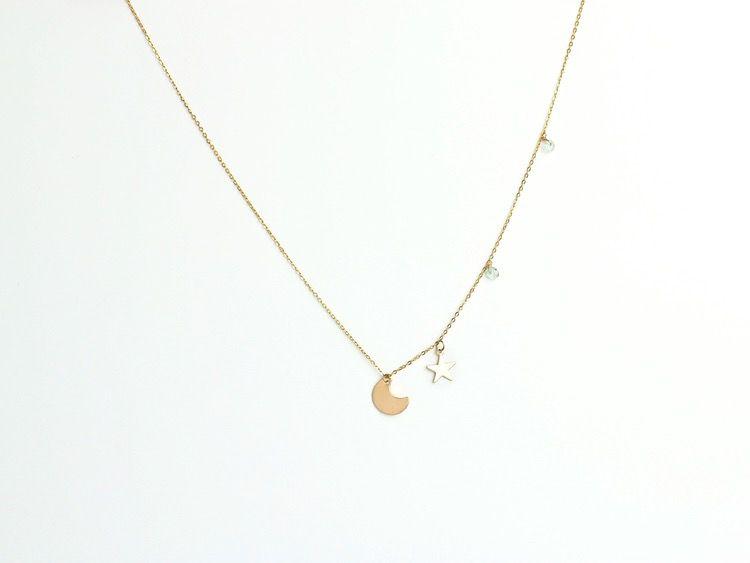 USA Estrella Aqua Necklace Gold