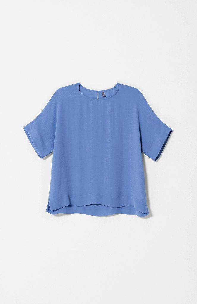 Australia M Blue Semi Sheer Boxy Top