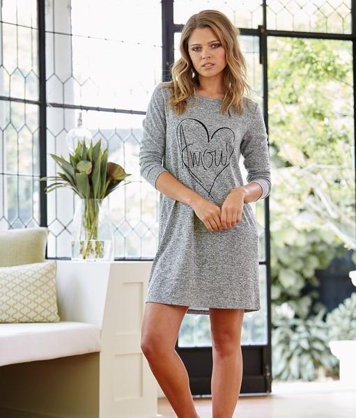 Australia GRETA - GREY SLEEP-LOUNGE DRESS (Size Medium)