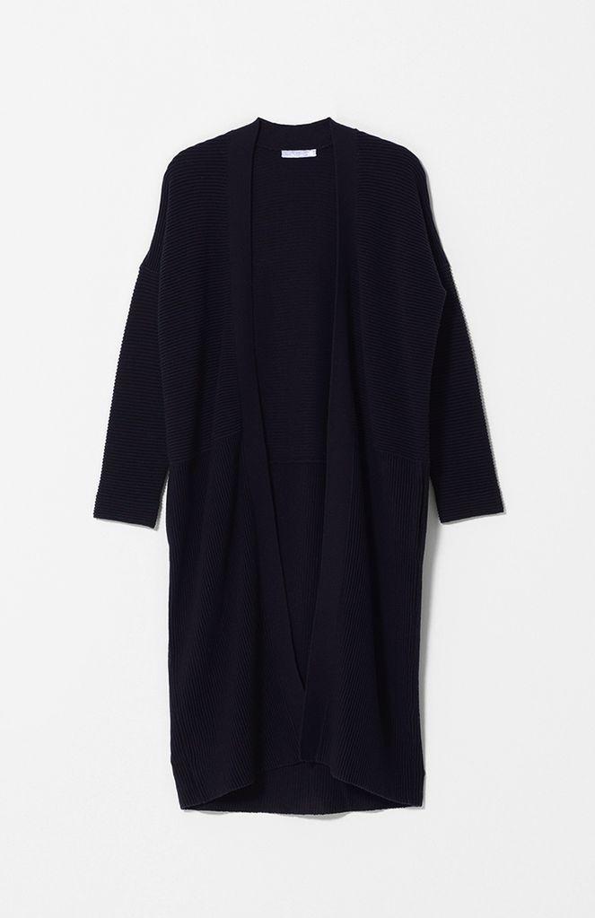 Australia S Blk Ottoman Knit Long CARDI
