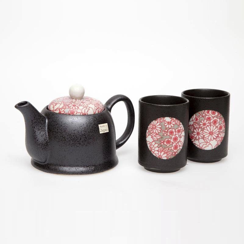 Australia Shinshiki Red 2 Cup Tea Set