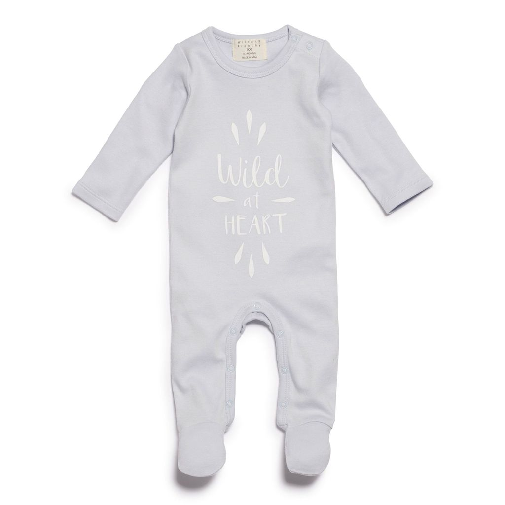Australia WILD AT HEART GROWSUIT WITH FEET BLUE - 1-3 months
