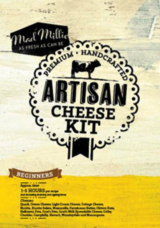 Australia MANUAL - Mad Millie Artisan Cheese Kit (4L Culture)