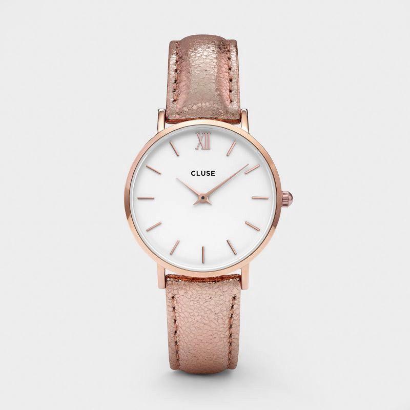 Australia CLUSE Minuit Rose Gold White/Rose Gold Metallic