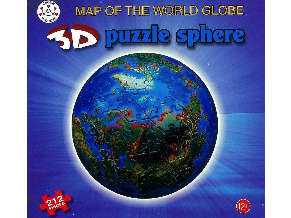 Australia 3D SPHERE MAP OF THE WORLD