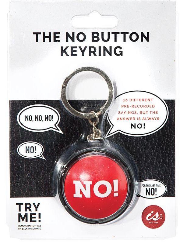 Australia The NO! Button Keyring