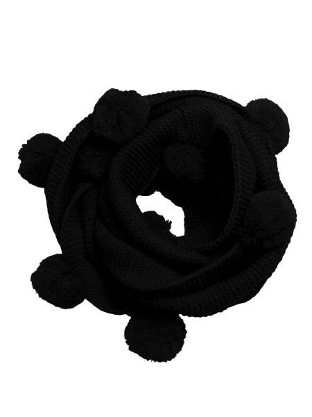 Australia Black Pom Pom Snood