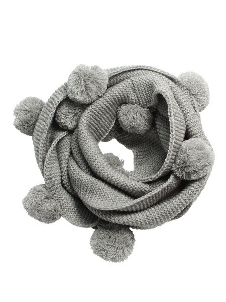 Australia Grey Pom Pom Snood