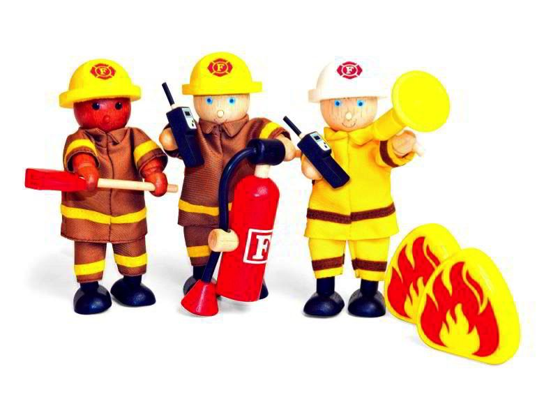 Australia FIREFIGHTERS (11cm) Set of 3