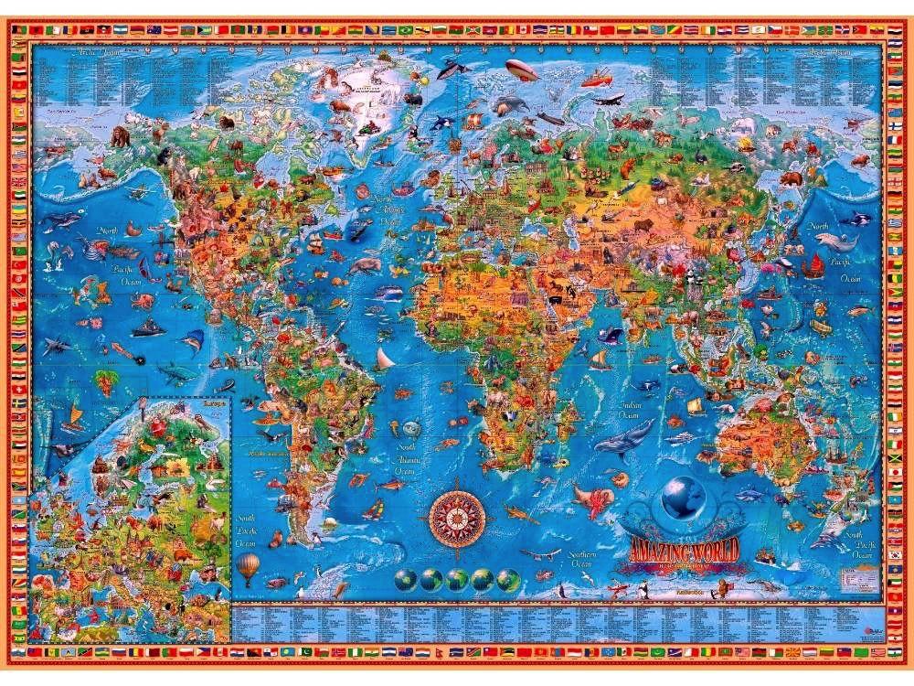 Australia AMAZING WORLD, MAP 3000pc