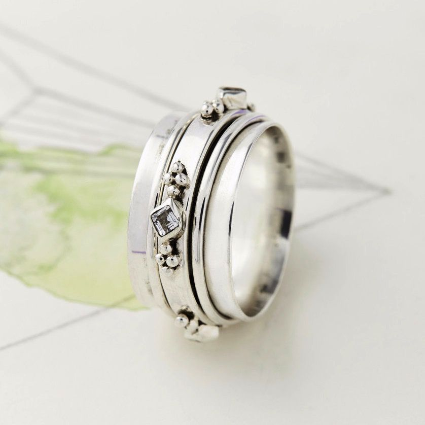 Europe Princess Gemstone Spinning Ring
